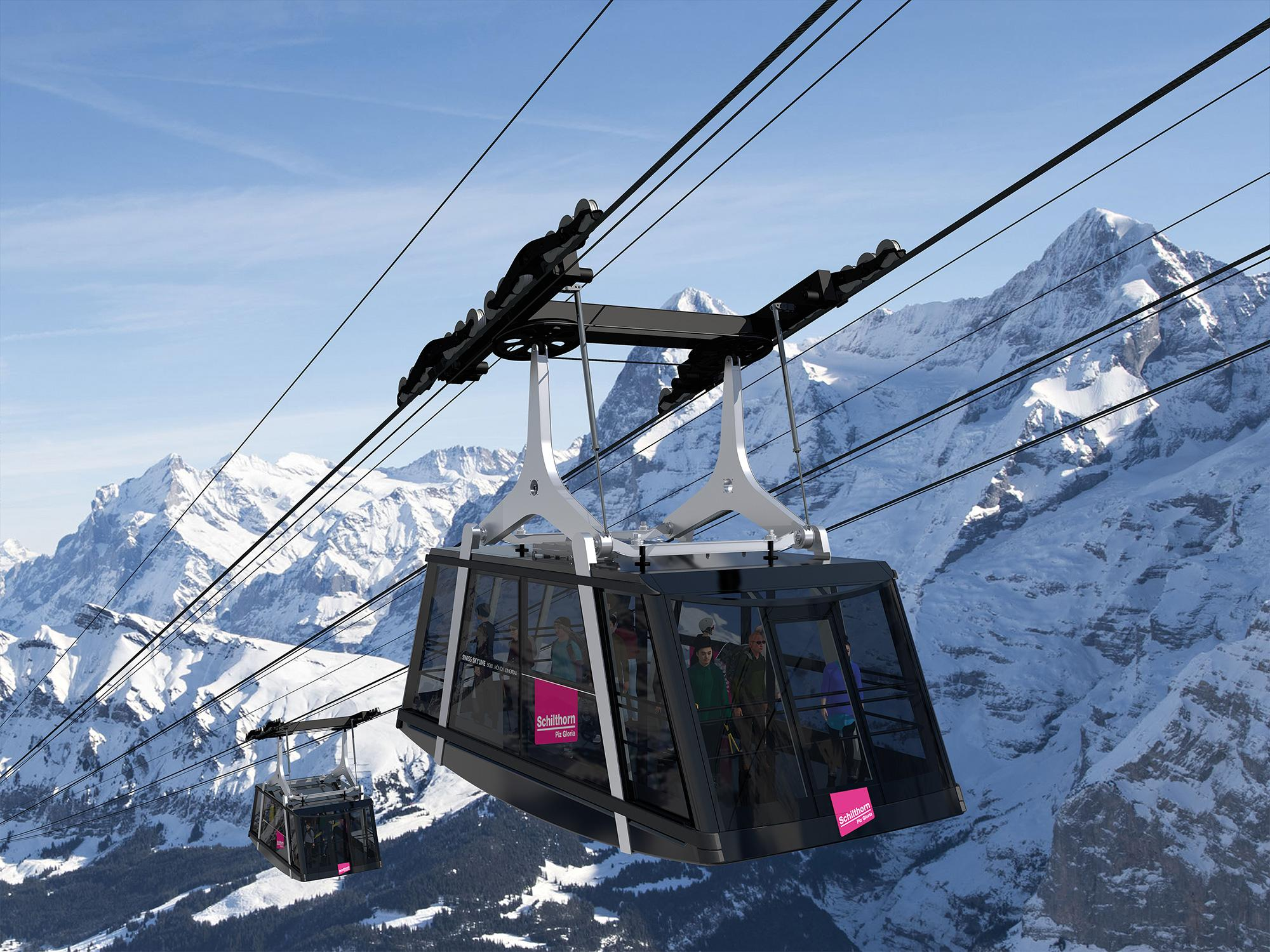 schilthornbahn20xx 3 start - A new cableway for Piz Gloria
