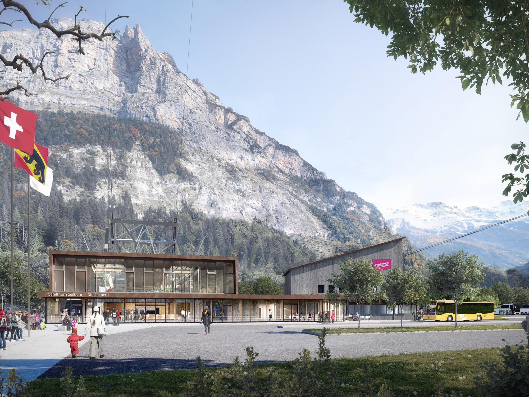 schilthornbahn20xx stechelberg webalbum start - A new cableway for Piz Gloria